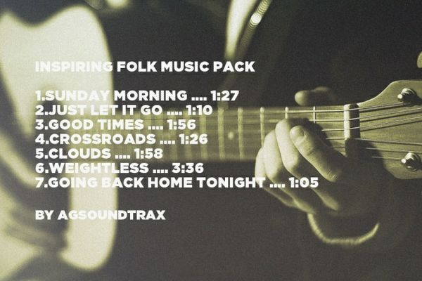 Inspiring Acoustic/Folk Royalty Free Music Pack