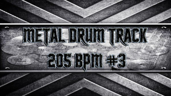Metal Drum Track 205 BPM #3