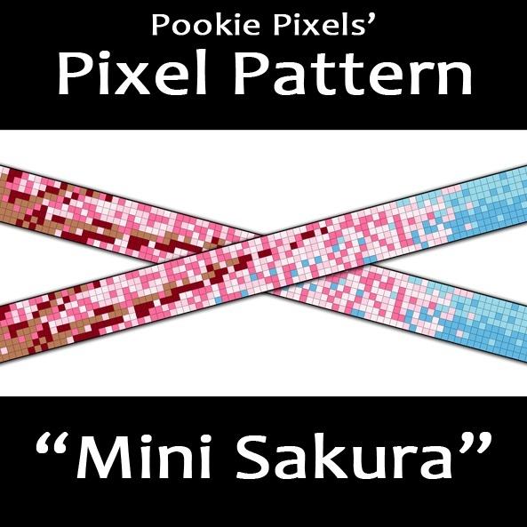 Mini Sakura Pixel Pattern