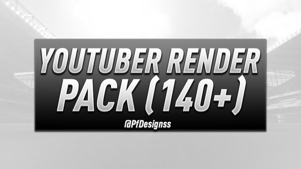 Youtuber Render FREE Pack (140+) By PfDesigns