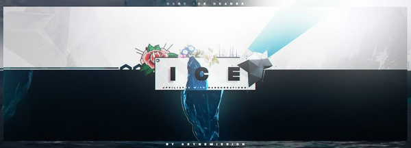 Ice Header PSD