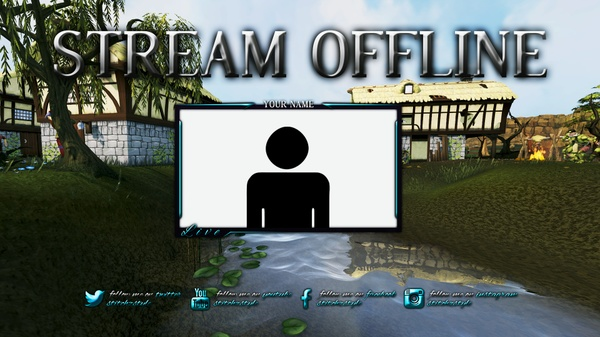 Runescape Twitch Overlay and Offline Screen Template