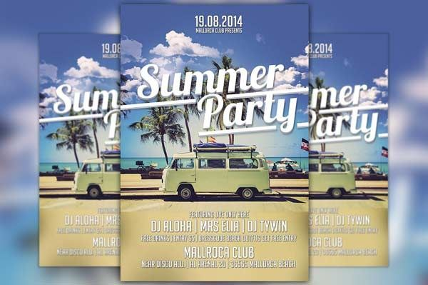 Summer Party Flyer Template Vol.1