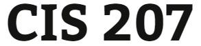 CIS 207 Entire Course