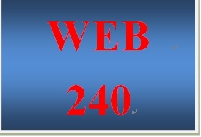 WEB 240 Week 1 Individual Dreamweaver Lessons