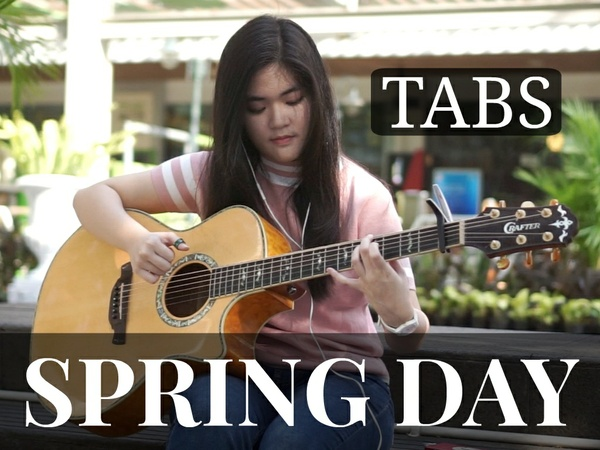 (BTS) Spring Day - Fingerstyle Guitar TABS [PDF]