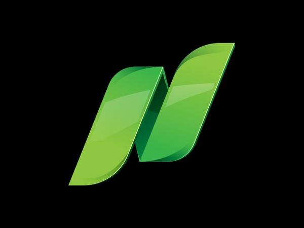Logo Modern Template Letter N
