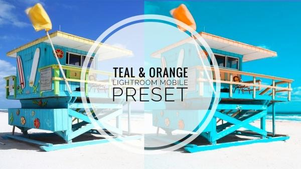 Teal & Orange Lightroom Mobile Preset