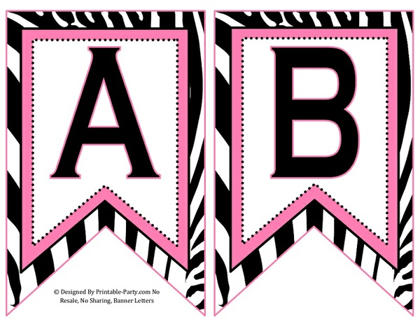 5-inch-swallowtail-light-pink-black-zebra-printable-banner-letters-a-z-0-9