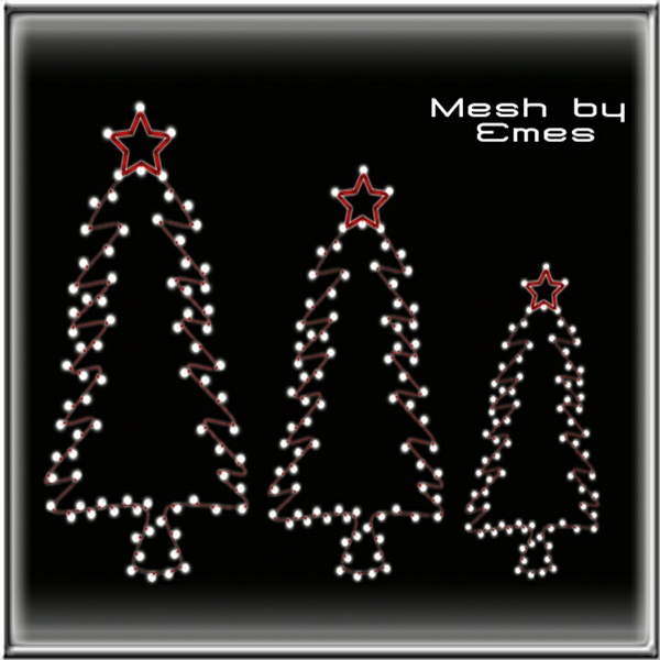 Mesh-Christmas Lighted Trees