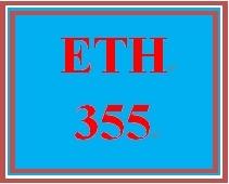 ETH 355 Week 2 Ethics Terminology Graphic