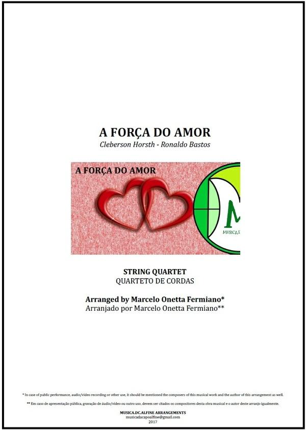 A Força do Amor | Roupa Nova | Quarteto de Cordas | Partitura Completa Download
