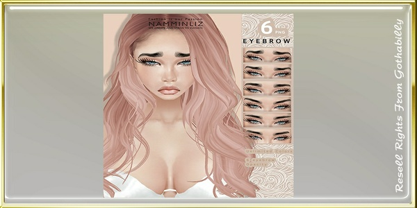 6 Eyebrow Unlimited Colors PSD Catty Only!!!!