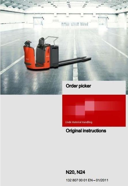 Linde Order Picker Type 132: N20, N24 Operating Instructions (User Manual)