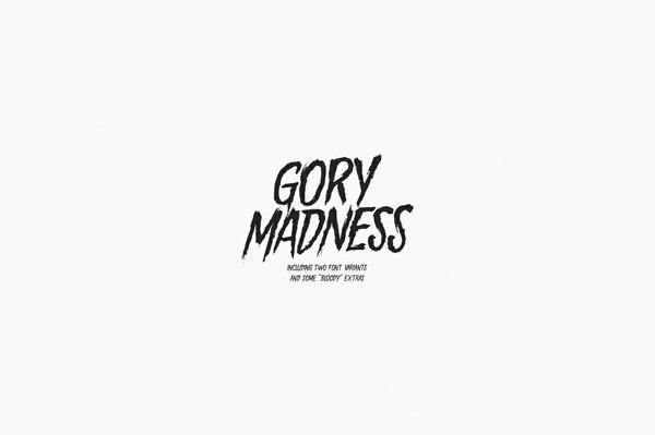 Gory Madness - Font