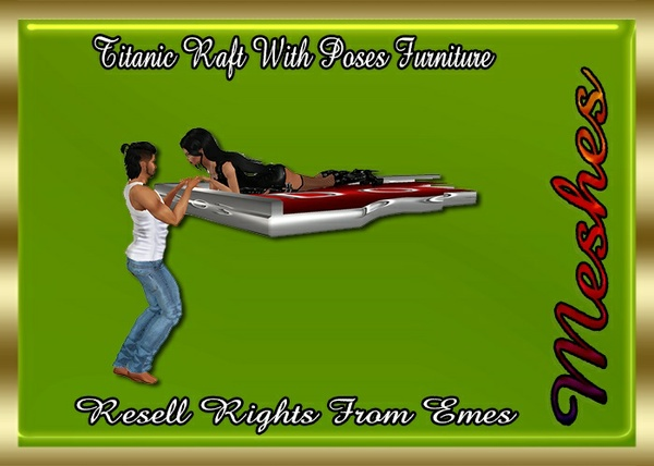 Titanic Raft With Poses Furniture Catty Only!!!