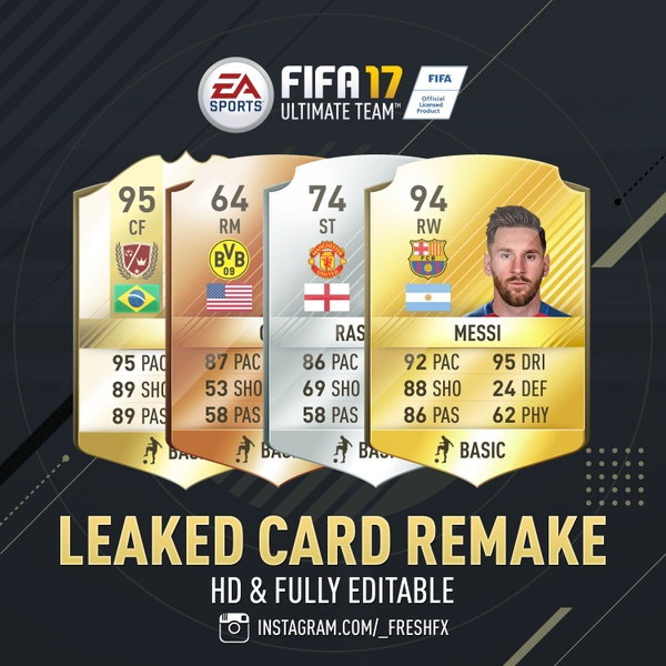 FIFA 17 LEAKED CARD REMAKE (HD)