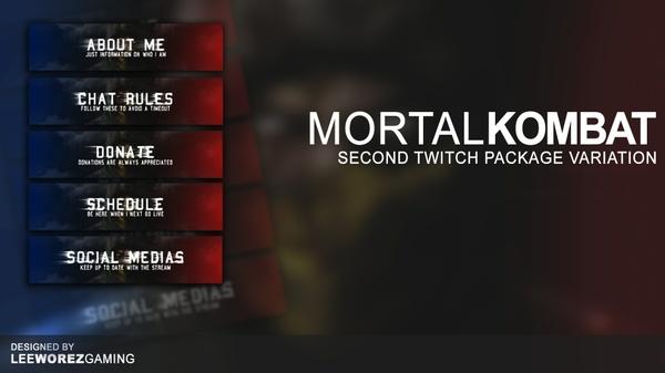 Twitch Panel Pack | Mortal Kombat X - Second Variant