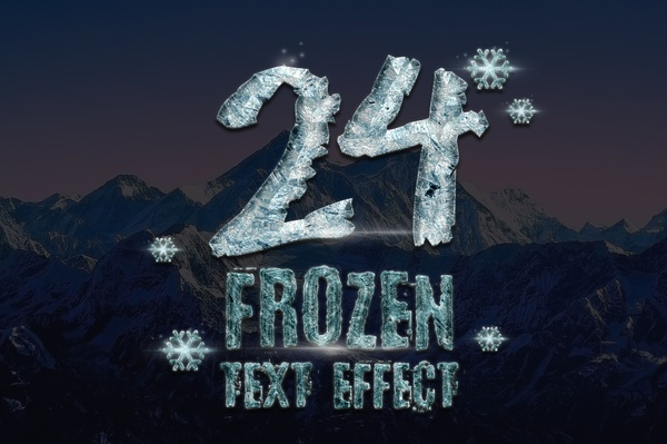 24 Frozen and Ice Text Effect