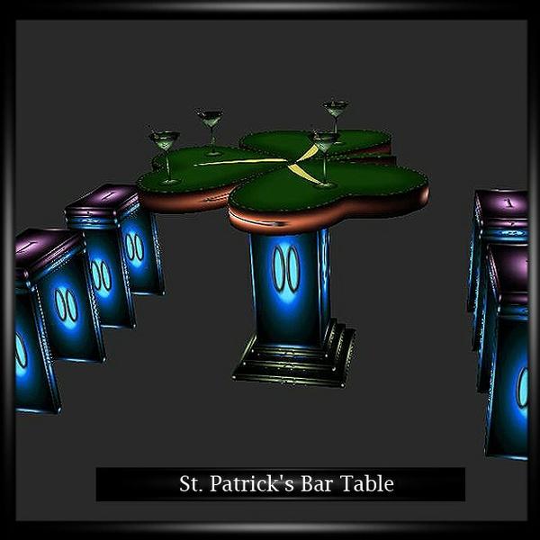 St. Patrick's Bar Table