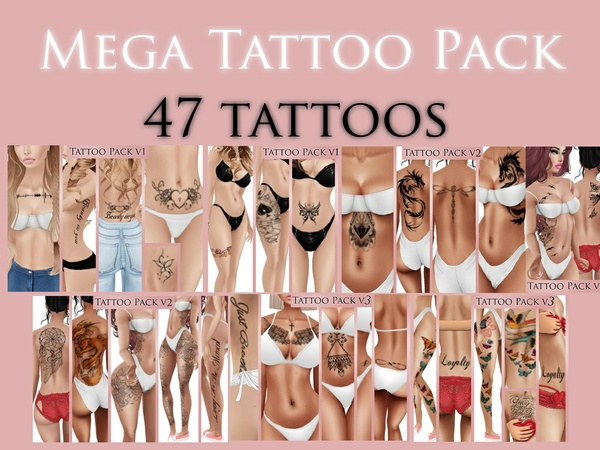 IMVU Texture - Skins by Lee - Tattoo Mega Pack