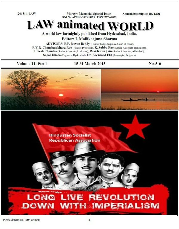 LAW ANIMATED WORLD, 15-31 March 2015 Martyrs Memorial Special issue