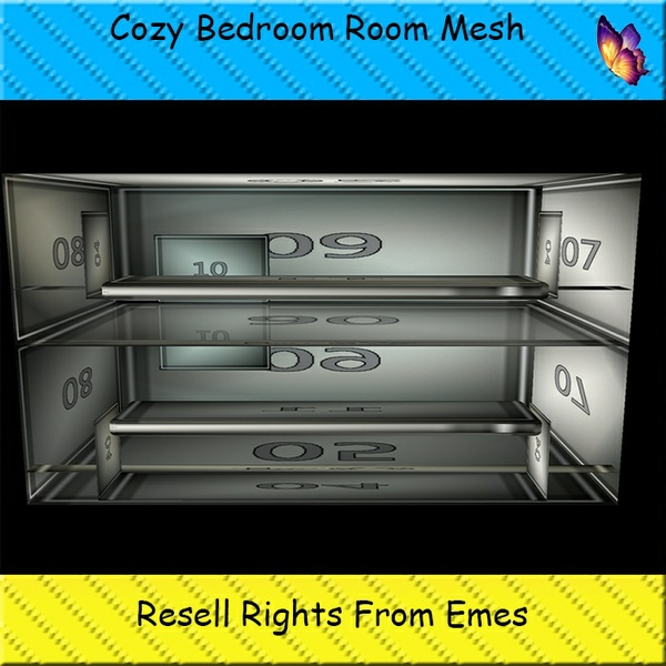Cozy Bedroom Reflective Room Mesh Catty Only!!!