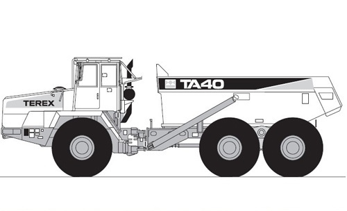 Terex TA40 OCDB Articulated Dumptruck Service Repair Manual