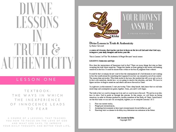 Divine Lessons in Truth & Authenticity: Textbook - Lesson 1 - Innocence and Ego