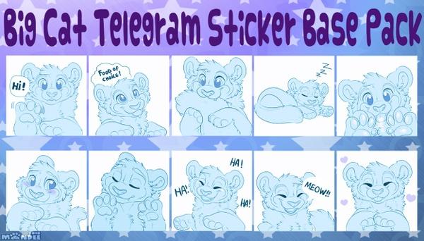 Big Cat Telegram Sticker Base Pack