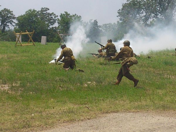 World War 2 Battle Reenactment