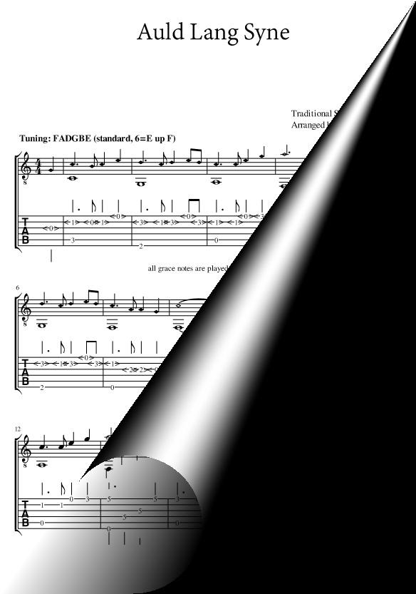 Auld Lang Syne (fingerstyle solo guitar arrangement)
