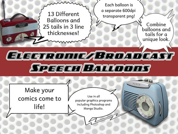 Electronic and Broadcast Speech Balloons Pack