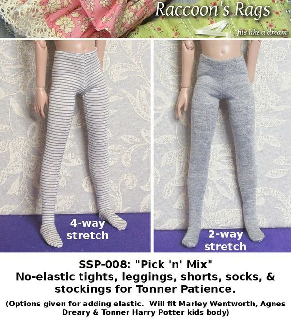 "SSP-008: Straightforward Sewing Pattern; ""Pick 'n' Mix"" tights, leggingsetc for Patience and others."