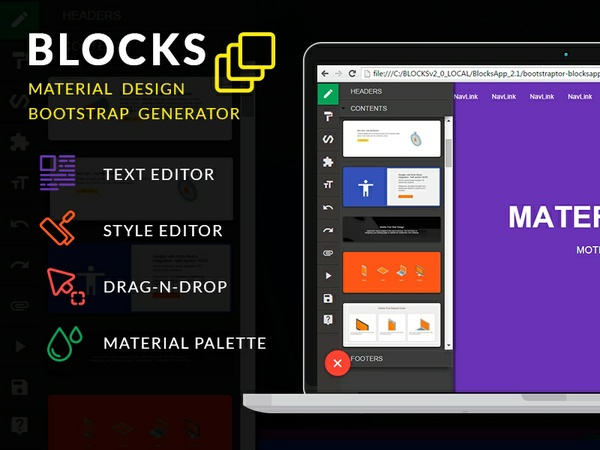 BLOCKS v.3.0. builder PRO lifetime license