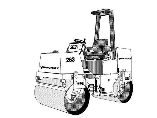 Vibromax 253 263 Tandem Roller Service Repair Manual Download