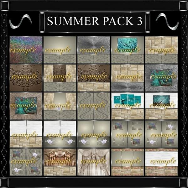 SUMMER  ROOM TEXTURES 3/ 47 TEXTURES