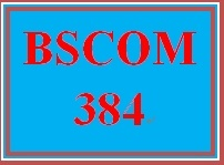 BSCOM 384 Entire Course