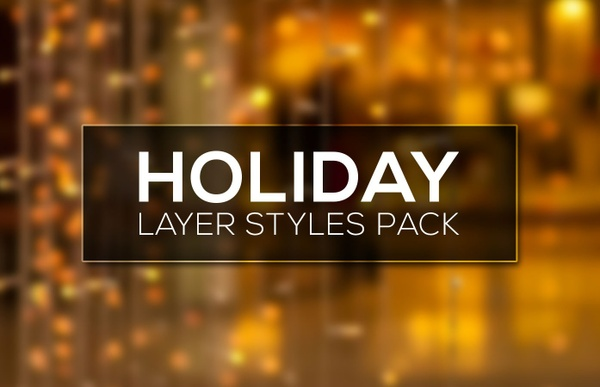 Holidays Photoshop Layer Styles Pack