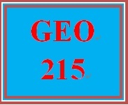 GEO 215 Week 3 Urbanization Analysis, Green Options & Global Warming Strategies Part 1