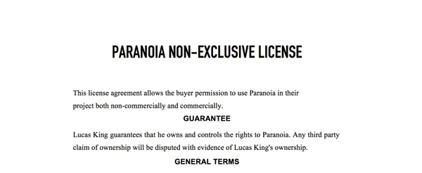 Dark Piano - Paranoia License