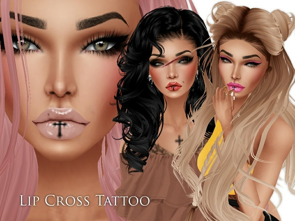 IMVU Texture - Skins by Lee -  Tattoo Lip Cross