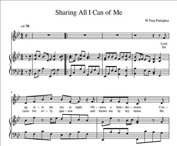 Sharing All I Can Of Me