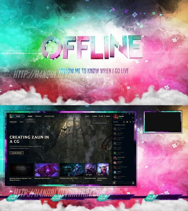 Stream Overlays Pack - Suicide Squad Style