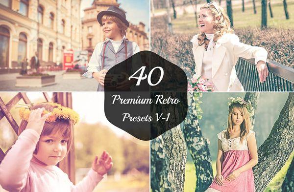 40 Premium Retro Lightroom Presets V-1