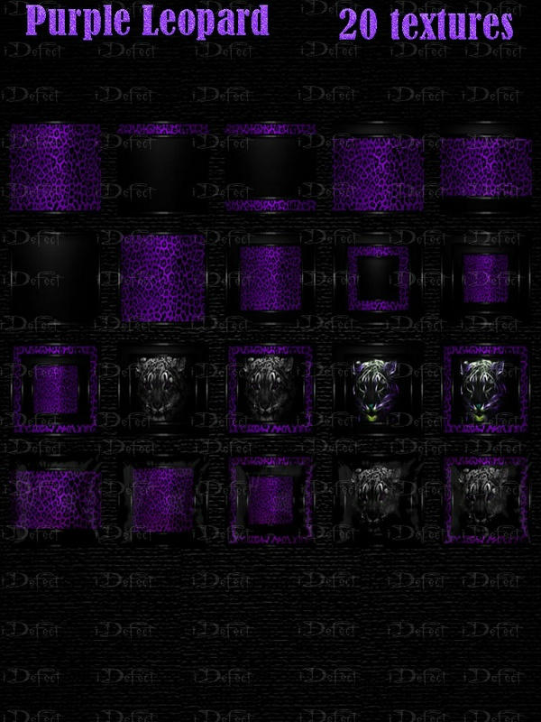 Purple Leopard Room Texture