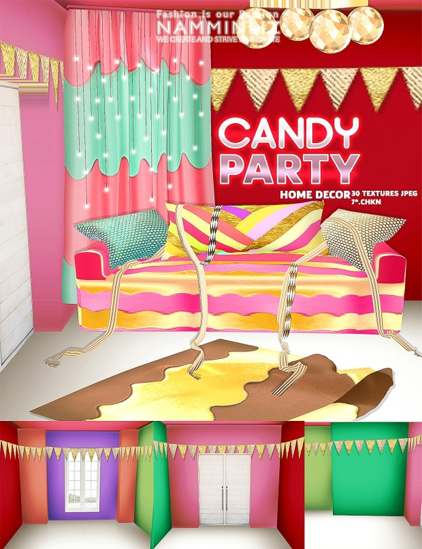 Candy Home decor imvu 30 Textures JPEG NAMMINLIZ
