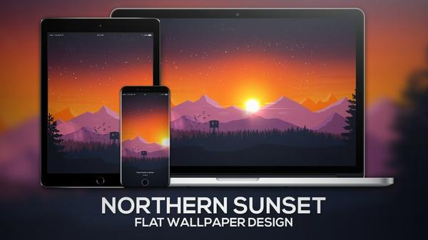 """Northern Sunset"" | Wallpaper"