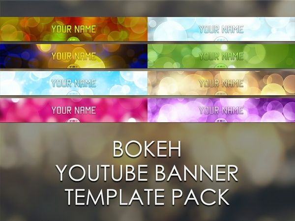 Bokeh YouTube Banner Template Pack