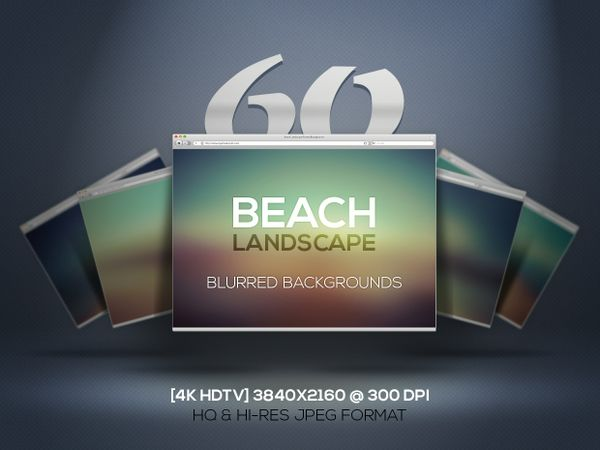 60 Beach Landscapes — Blurred Backgrounds